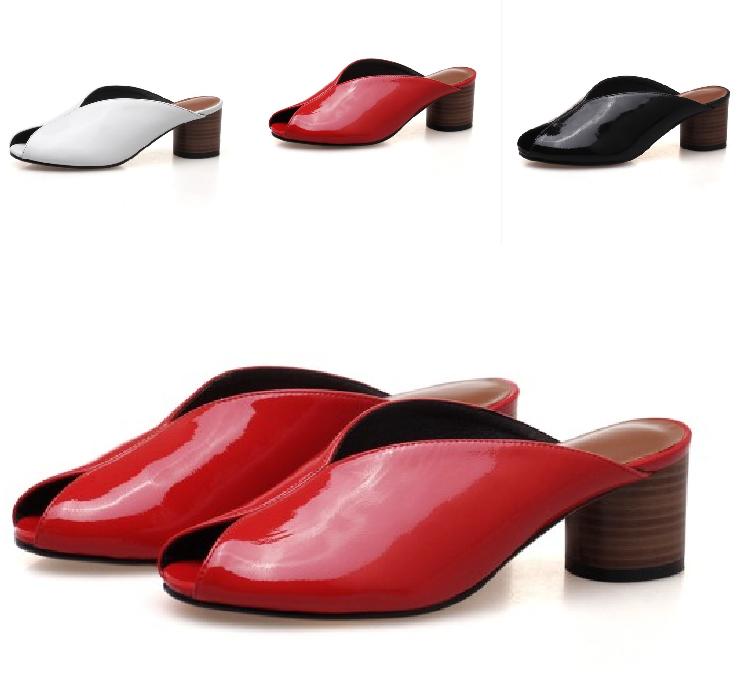 Escarpins Pantoufles Sandales Mules Ouvert Orteil Talon Bloc Pompe chaussures femmes