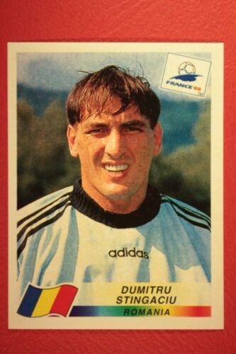 444 ROMANIA STINGACIU WITH BLACK BACK MINT!! PANINI WC WM FRANCE 98 1998 N