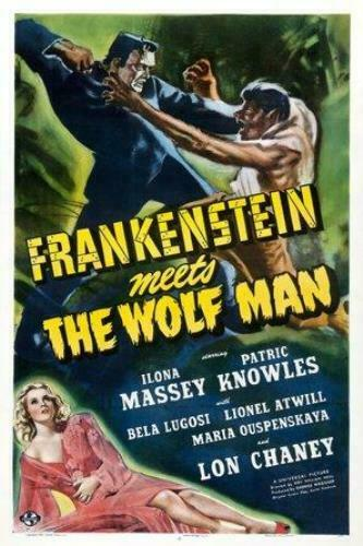 Frankenstein Meets the Wolf Man Poster////Frankenstein Meets the Wolf Man Movie Po