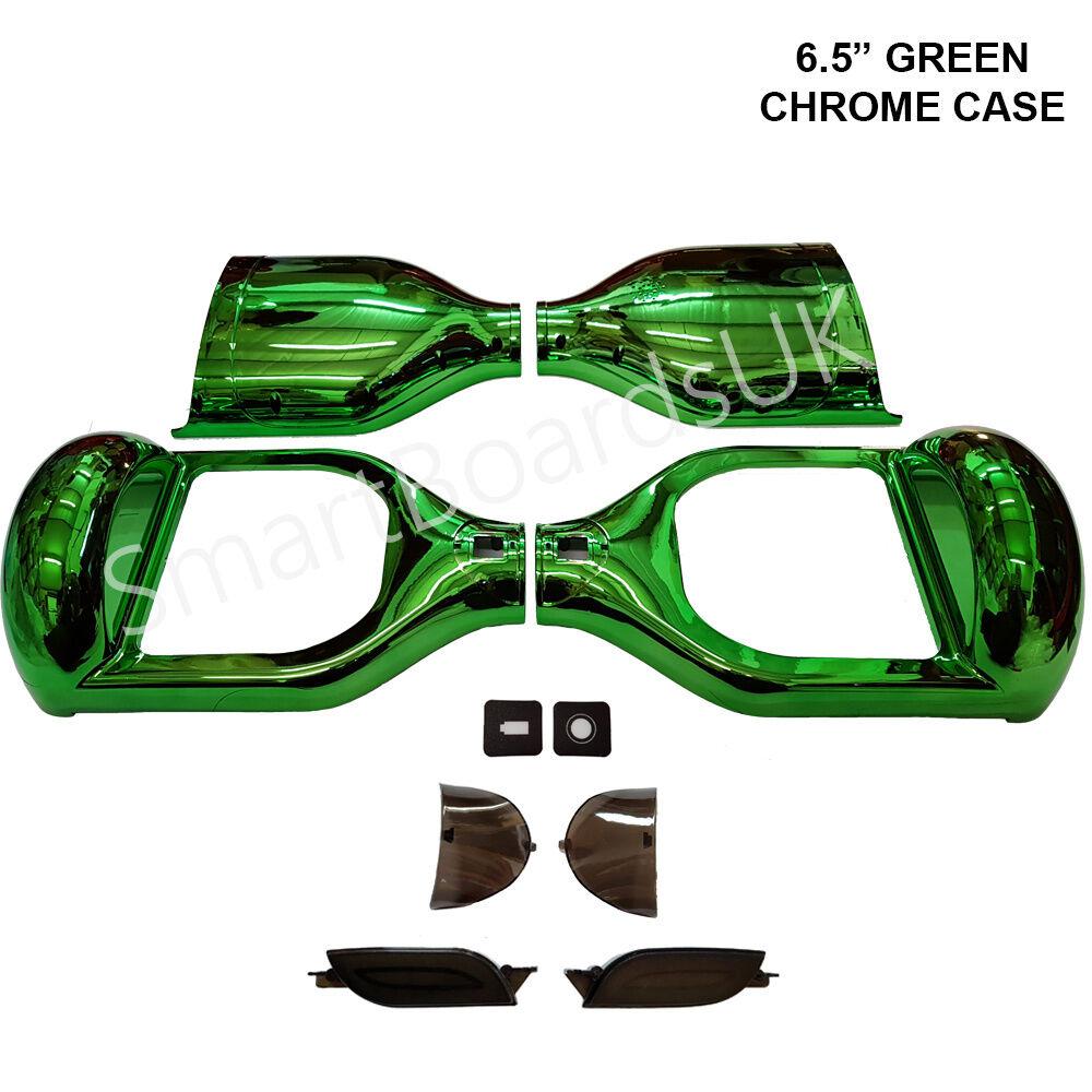 GREEN CHROME 6.5  Plastic Shell for Hoverboard Parts Sweg Case 6.5 Inch Frame UK