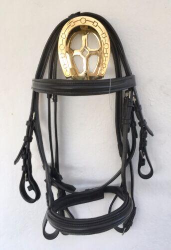 BEAUTIFUL MINI SHETLAND PADDED CAVESSON NOSEBAND  BRIDLES IN BLACK OR BROWN