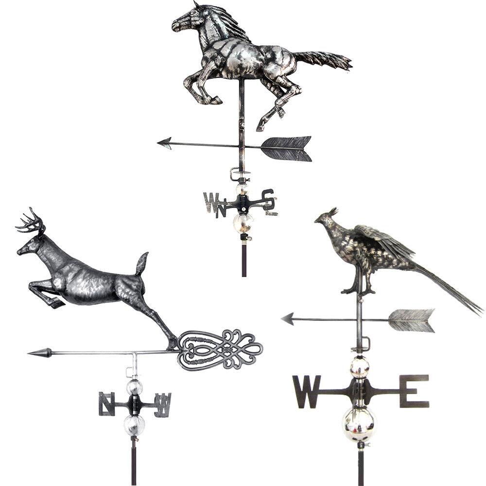 Primus Weathervanes Stainless Steel 3D Weather Vane Deer Horse Pheasant w/ Stake