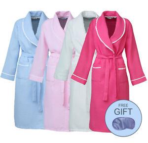 i-Smalls Women s Waffle Dressing Gown Loungewear Bath Robe Housecoat ... d56ce72db