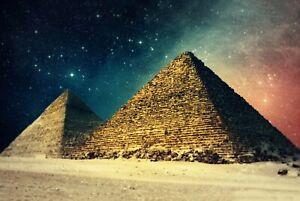 A1-Egyptian-Pyramids-Poster-Art-Print-60-x-90cm-180gsm-Egypt-Giza-Gift-8909