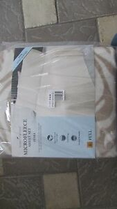 NEW-TAN-ZEBRA-PRINT-MICRO-FLEECE-SHEET-SET-FULL-FITTED-FLAT-2-CASES-TAUPE