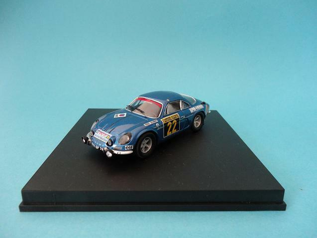 RENAULT ALPINE A110 THERIER - WINNER RALLY SAN REMO 1970 - 1 43 NEW - TROFEU 820