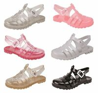 Girls / Infants Retro Jelly Shoes / Sandals / Beach Shoes ~ UK 4 - 2