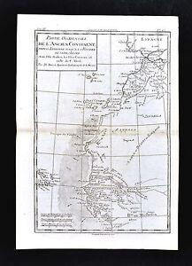 1779 Bonne Map West Africa Morocco Sahara Desert Cape Verde