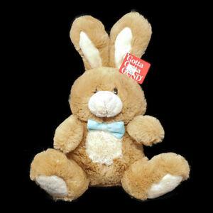"Gund Easter Bunny Rabbit 13"" Bops Plush Stuffed Animal Brown Blue Bow Tie Spring"