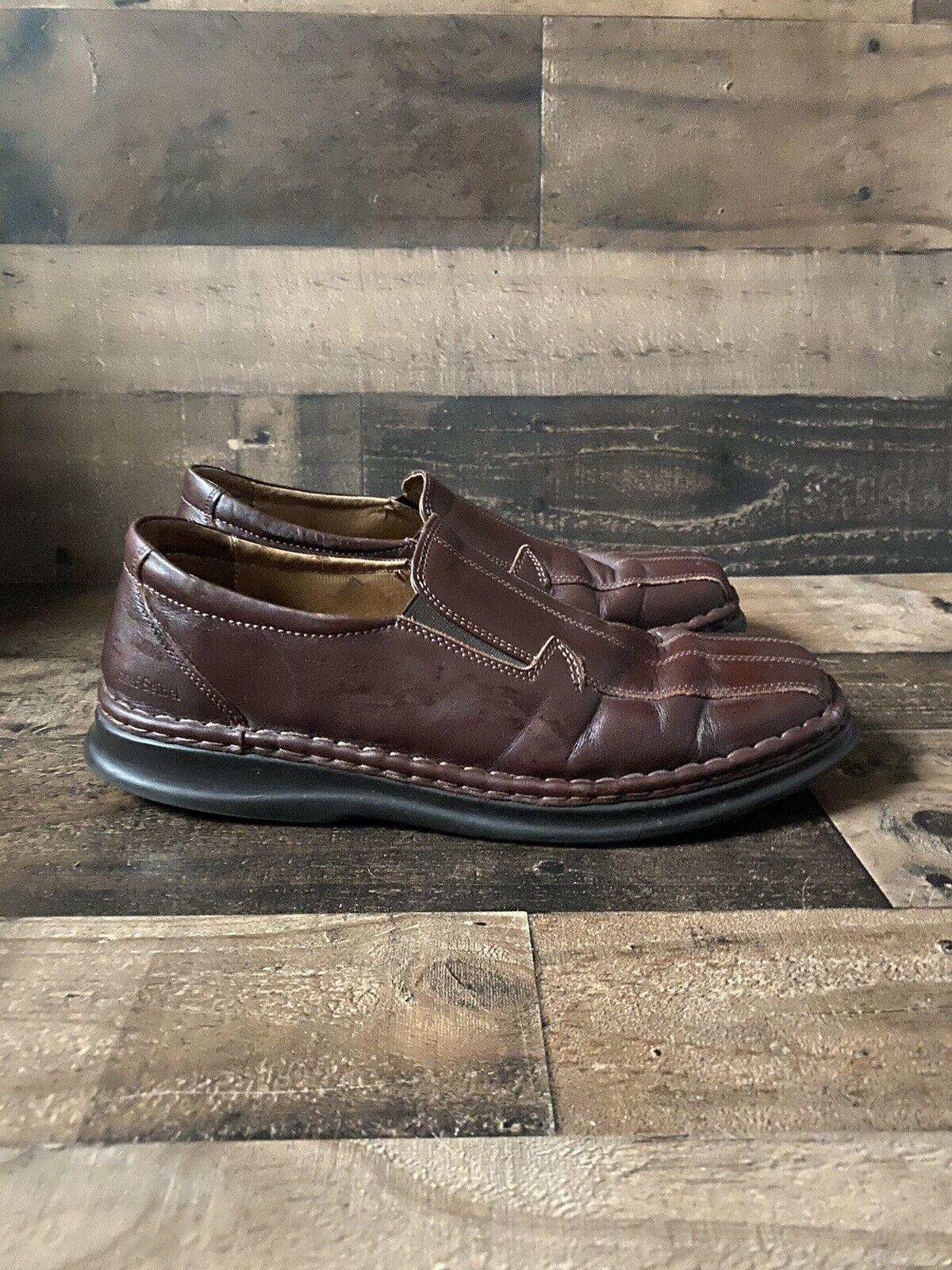Josef Seibel Leather Comfort Slip-On Shoes Men's Size EU 45