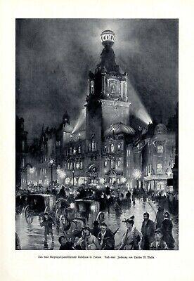 Romantisch Theater London Coliseum Xl Kunstdruck 1905 Kolosseum Etablissement Wyllie ZuverläSsige Leistung