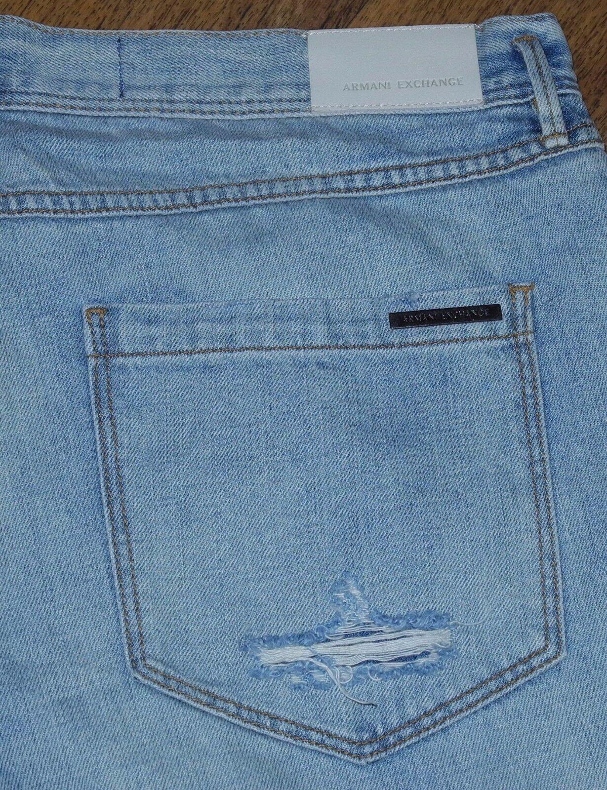 NEW A X ARMANI EXCHANGE Boyfriend Fit Women's Destroyed bluee Jeans Size 31