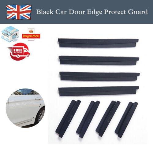 8pcs Black Useful New Car Door Edge Protect Guard Anti-scratch Rub Strip Bumper