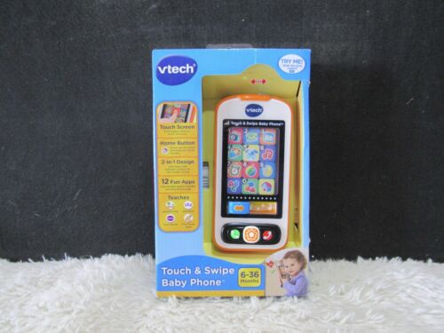 New in Box 6-36 Mos VTech Touch /& Swipe Baby Phone 2-in-1 Design 12 Fun Apps