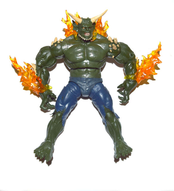 marvel legends infinite series spiderman green goblin baf 8 loose