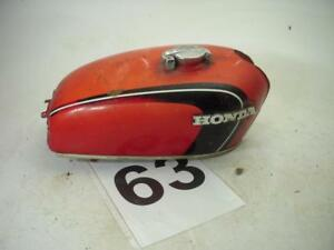 Used-1971-72-Honda-CB350-Gas-Fuel-Tank-Repainted-Red-With-Cap-WT-63