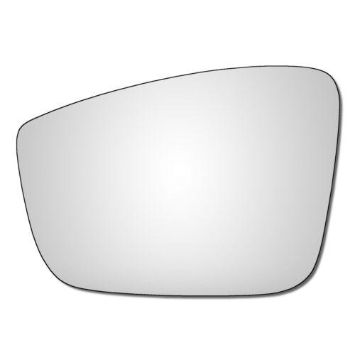 Left Hand Passenger Side Seat Mii 2011-2016 Convex Wing Door Mirror Glass