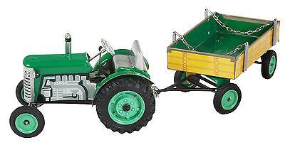 Spielzeug Blechspielzeug Noch Nicht VulgäR Intelligent Kovap Zetor Traktor Grün Mit Hänger Neu Und Ovp Top Preis !!!