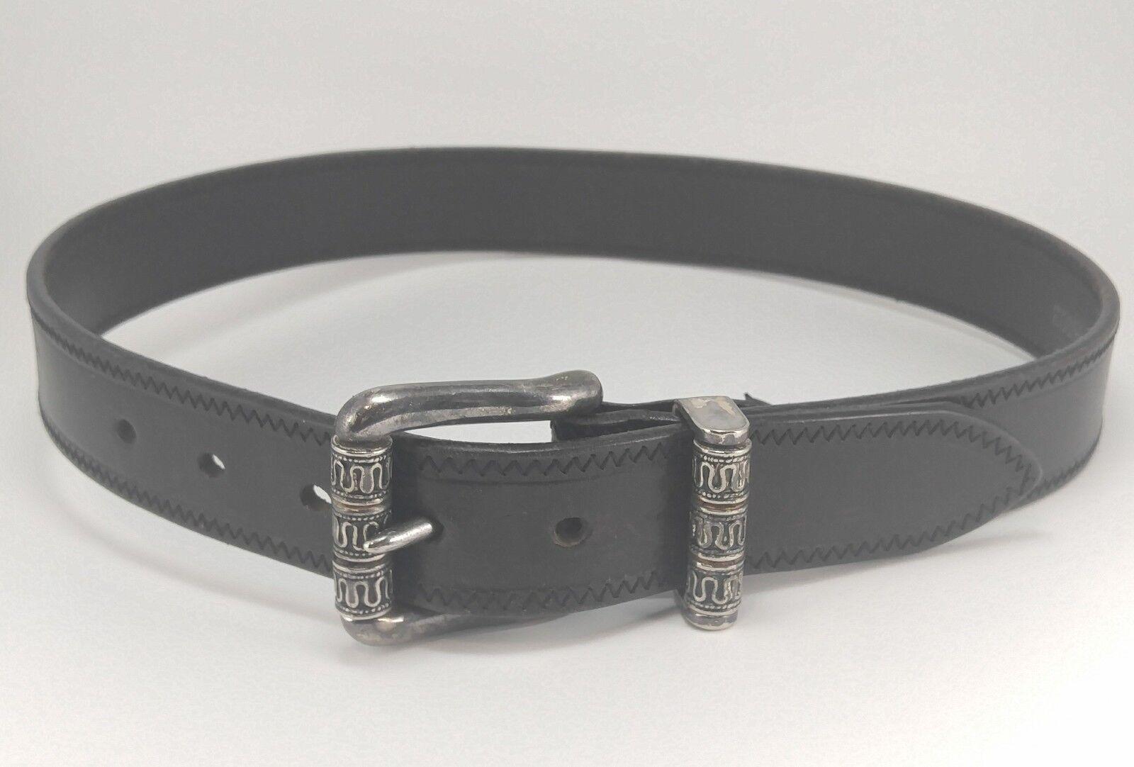 92bfbdd0e Vintage Brighton Black Leather Belt - Size Small