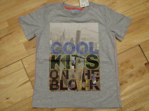 "New boys F/&F grey /""Cool Kids on the Block/"" T shirt age 5-6"