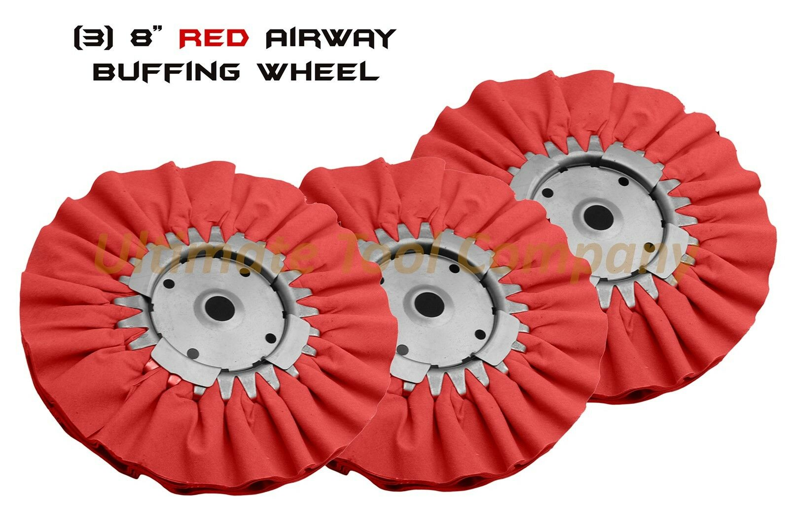 (3) rot Airway Buffing Wheel 8  Polishing 5 8  16 Ply Renegade Products rot