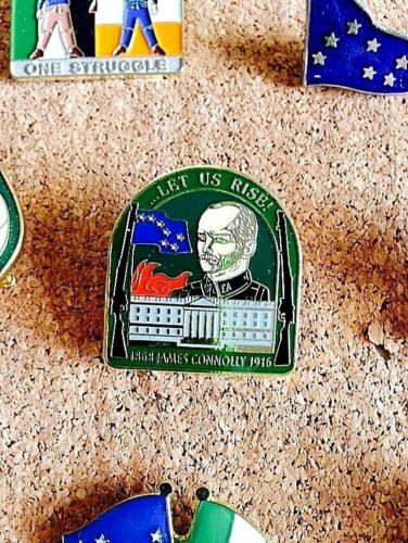 Easter Lily Rebel Rising James Connolly 1916 Pin Badge Irish Republican