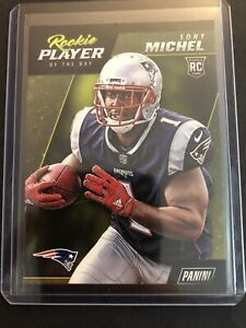 Details about 2018 Panini Player of the Day Rookies #R8 Sony Michel RC