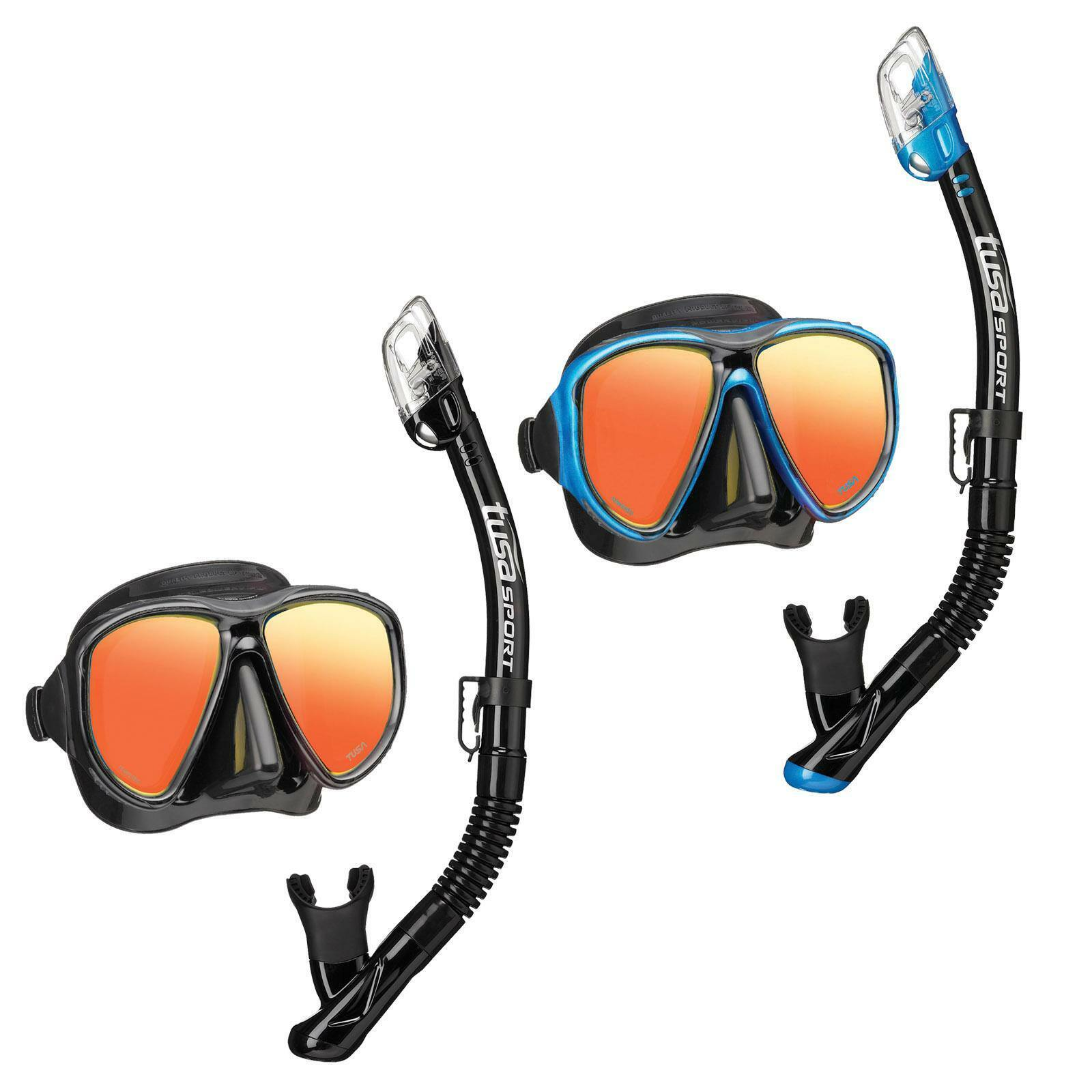 Tusa Snorkel Set - Powerview Dry Mirror Combo for Adult