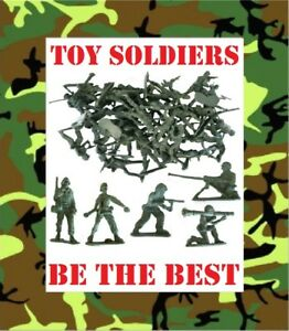 TOY-MODEL-ARMY-SOLDIERS-Plastic-Figures-Combat-Platoon-Party-Filler-Favour