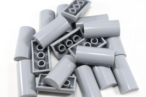 QTY TCM Compatible Bricks Light Bluish Gray Brick 2 x 4 No Studs Curved Top 5