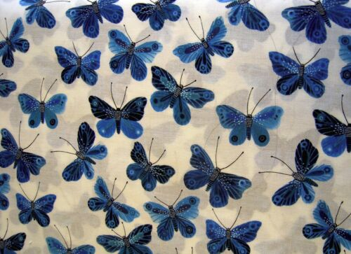 100/% Organic Cotton Fabric Bunny hearts butterflies Mouse Quilt Cloud9 FQ BTY
