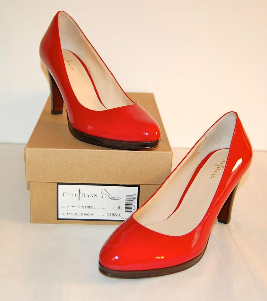 NOUVEAU 278 Cole Haan Nike Air Margot Pump Leather II Tango Red Patent Leather Pump Platform lot Chaussures de sport pour hommes et femmes 400106