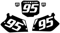 1995-1996 Honda Cr 250 Custom Pre Printed Black Backgrounds White Numbers