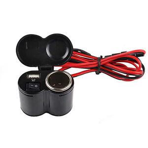 Steckdose-12V-Wasserdicht-Zigarettenanzuender-Buchse-Motorrad-Ladegeraet-Adapter