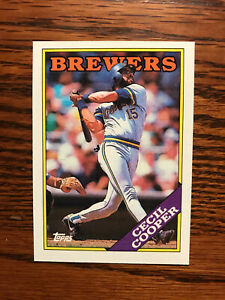1988 Topps #769 Cecil Cooper Baseball Card Milwaukee Brewers Raw