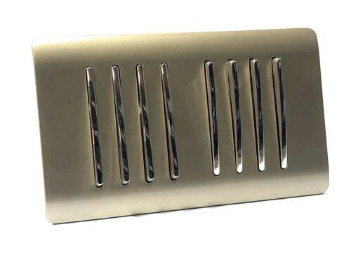Trendi Interrupteur Champagne Gold 8-Gang 2 Voies Moderne Brillant Double Interrupteur De Lumière