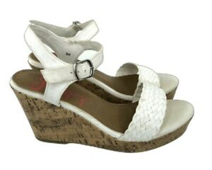 Jellypop-Wedge-Sandals-Women-039-s-Size-8-White-Comfort-Fit-Mozart