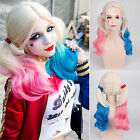 Batman Suicide Squad Harley Quinn Cosplay Girl Wig Gradient Hair Fancy Party New