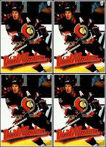4x-ULTRA-FLEER-1996-DANIEL-ALFREDSSON-NHL-OTTAWA-SENATORS-113-MINT-CARDS-LOT