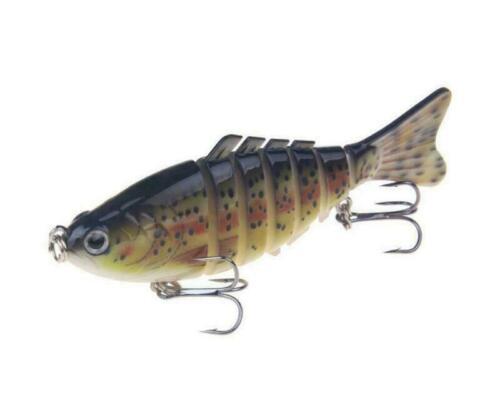 Minnow Crank Baits Bass 7 Segment Multi Jointed Fishing Lure Crankbaits Swimbait