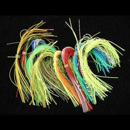 12 Bundles Bunte Fliegenbinden Gummifäden Straps für Köder Bartherstellung