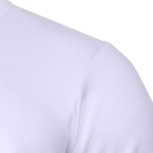 Men/'s  Long Sleeve Cotton Rich Ribbed Crew Neck Casual Muscle Top Soul Star