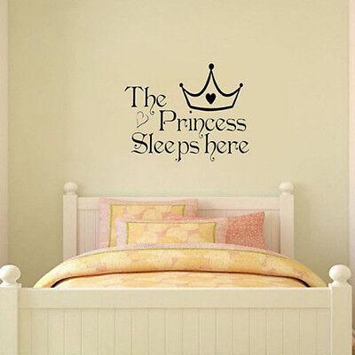 Baby Girl Princess Removable Wall Sticker Nursery Room Decor Decal Art Mural