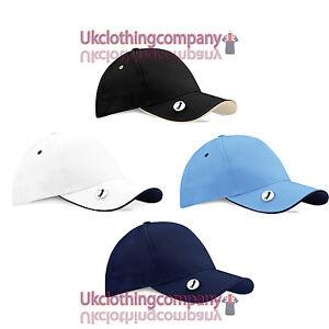 Beechfield-Pro-Style-Ball-Mark-Golf-Cap-baseball-cap-Unisex-hat-one-size