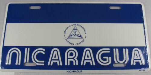 NICARAGUA FLAG METAL LICENSE PLATE NICARAGUAN SIGN L208