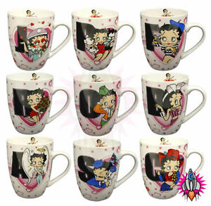 BETTY BOOP LETTER ALPHABET MUG COFFEE CUP NEW & OFFICIAL | eBay