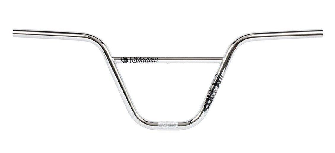 The Shadow Conspiracy Vultus Featherweight BMX Bike Handlebars 9.5 x 30  Chrome