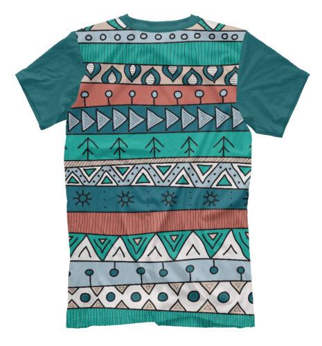 Бирюзовый африканский узор NEW t-shirt Turquoise african pattern 951716