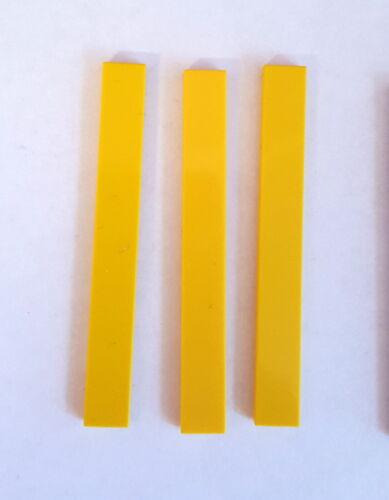 Lego 4162 Tuile Carreau 1x8 lisses 3 pièces Jaune 29