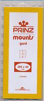 Prinz Scott Stamp Mount 40/265 Black Background Pack Of 10